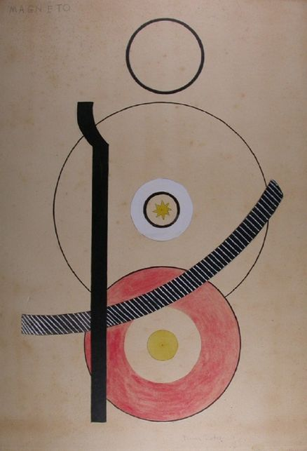 Francis Picabia (1879-1953), 1920, Magnéto, Colored pencil, ink and watercolor over pencil on cardboard.