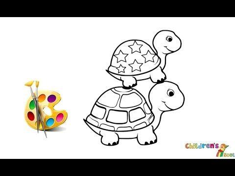 Cute Turtle Coloring And Drawing For Kids Toddlers Kiddy Art Tv Youtube Kids Learning Videos Kids Songs Kids Nursery Rhymes