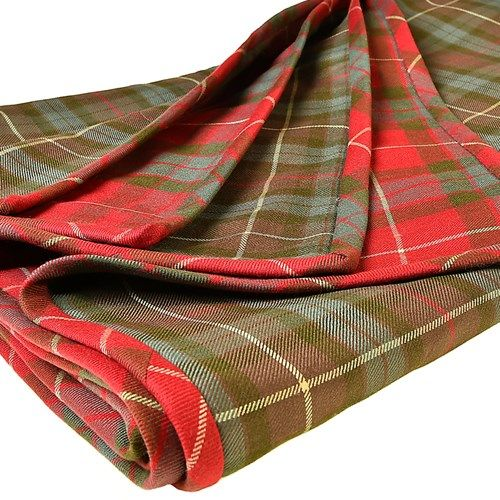 Throw pictured in Fraser Weathered and Fraser Hunting Weathered tartan