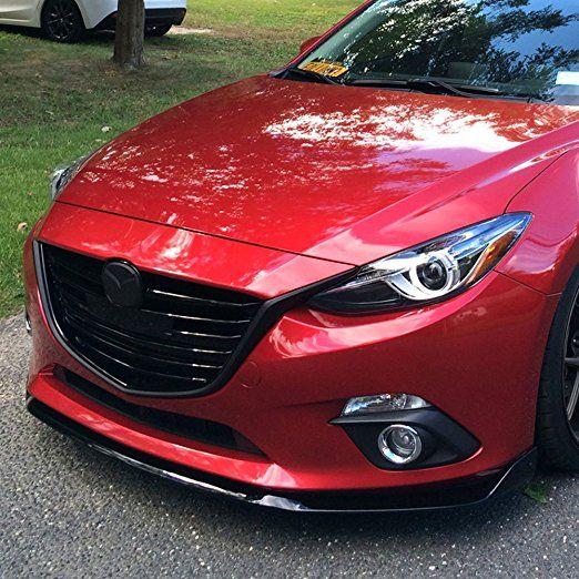 Amazon Com Front Bumper Lip Fits 2014 2016 Mazda 3 4dr 5dr