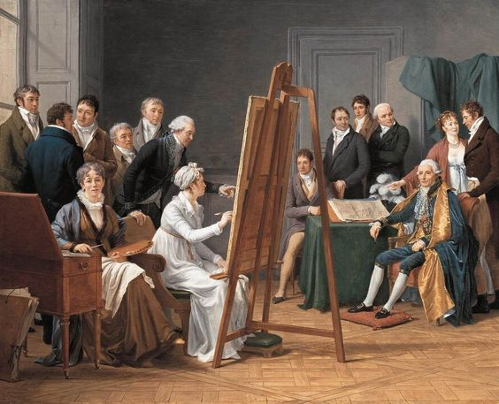 CAPET, Marie-Gabrielle  French painter (b. 1761, Lyon, d. 1818, Paris)Studio Scene  1808: