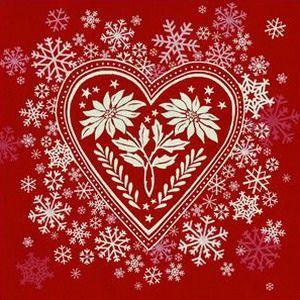 corazón rojo yblanco