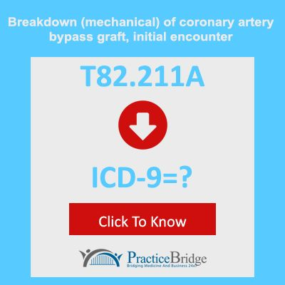 Breakdown (mechanical) of coronary artery bypass graft, initial ...