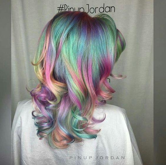 Amazing rainbow Opal hair | Hair | Pinterest | Locks, Hair ...