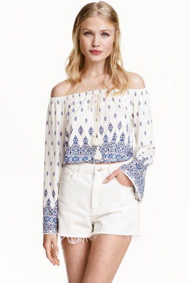 Patterned off-the-shoulder top | H&M: