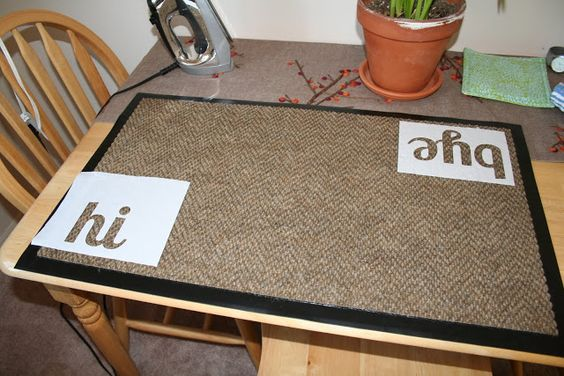 Virginia and Charlie - DIY doormat  More good ideas at VirginiaandCharlie blogspot.com