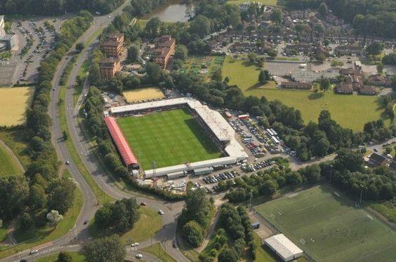 Aerial photo of The Broadfield Stadium