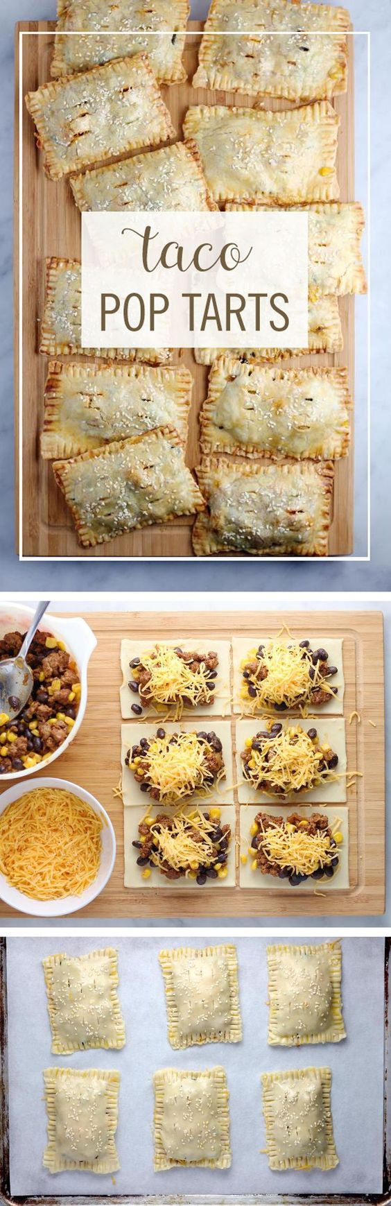 "Taco Pop Tarts Recipe via Babble ""These Taco Pop Tarts are a perfect way to turn your favorite breakfast pastry into dinner. Take your typical taco ingredients and turn them into this delicious on-the-go dinner."" - The BEST 30 Minute Meals Recipes - Easy, Quick and Delicious Family Friendly Lunch and Dinner Ideas #30minutemeals #30minutedinners #thirtyminutedinners #30minuterecipes #fastrecipes #easyrecipes #quickrecipes #mealprep"