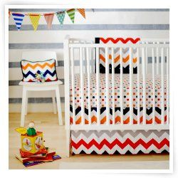 New Arrivals Zig Zag Baby Crib Bedding Set - Rugby