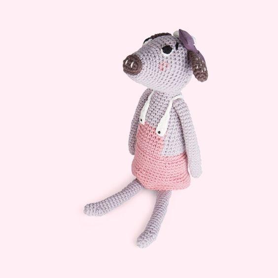 Sebra Clara Crochet Cow Toy