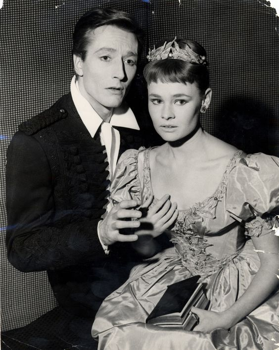 1957 - John Neville as Hamlet and Judi Dench as Orphelia at the Old Vic. Photograph: Associated Newspapers/Rex Features