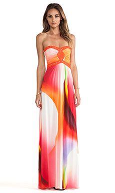 sky Sabi Strapless Dress in Coral | REVOLVE