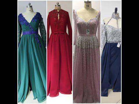 فساتين سهرة كم طويل فساتين سهرة للمحجبات فساتين سهرة لأم العروسة Youtube Dresses Real Weddings Dress Evening Dresses
