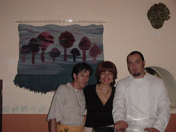 durante la exposicion en el PANONIAM, con un gran amigo y el gran Chef Marco