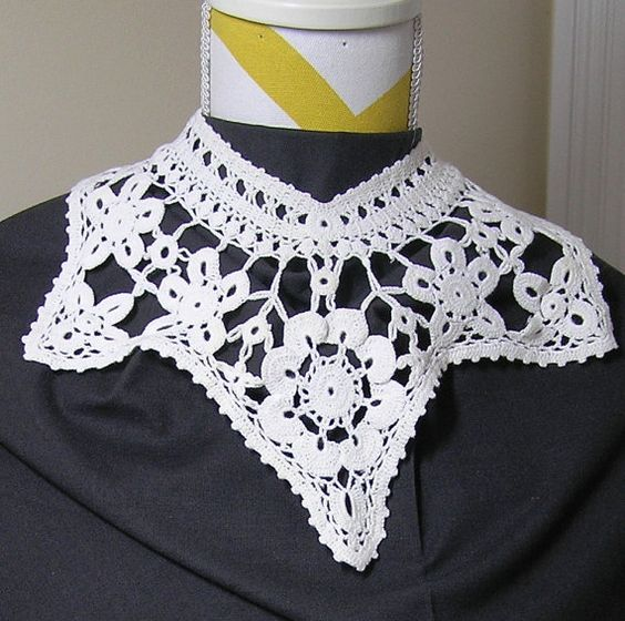 Vintage Collar of Crocheted Lace in White  by VictorianWardrobe, $10.00