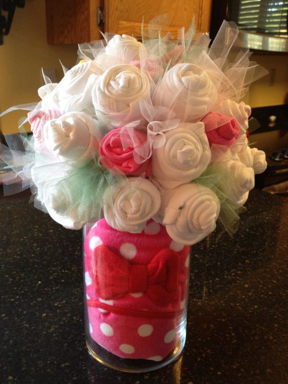 Onesies bouquet crafts pinterest vase and