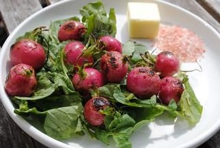 Grilled Radishes
