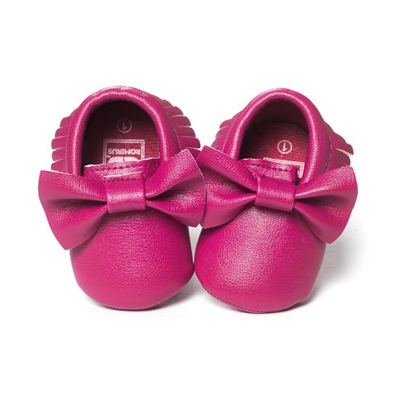 Infant Baby Girl Shoes Casual PU Moccasins Prewalker Anti-Slip Walkers Girl Bowknots Shoes