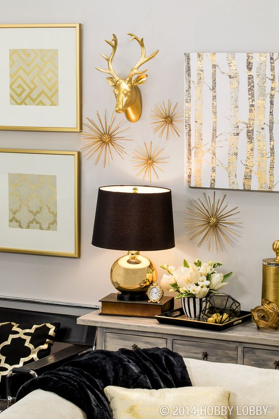 Black And Gold The Perfect Modern Pieces To Bring Your Home Up To Par Modern Glam Home Decor