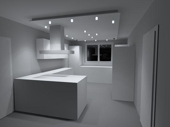 LED Spots mit Abgehängter Decke Haus Ideen Pinterest - innovative holzpaneele deckenmontage