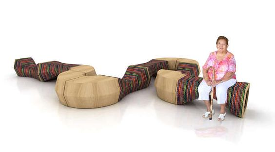 Undulating Modular Loungers : Furniture for Reading