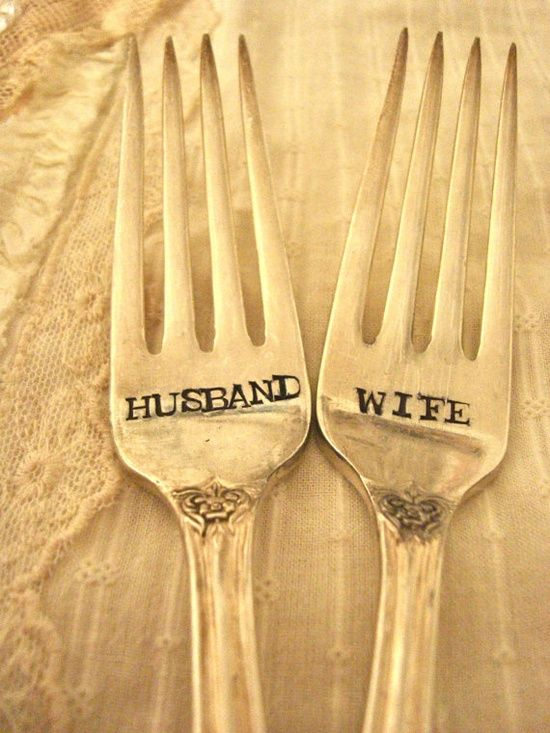 Vintage wedding forks