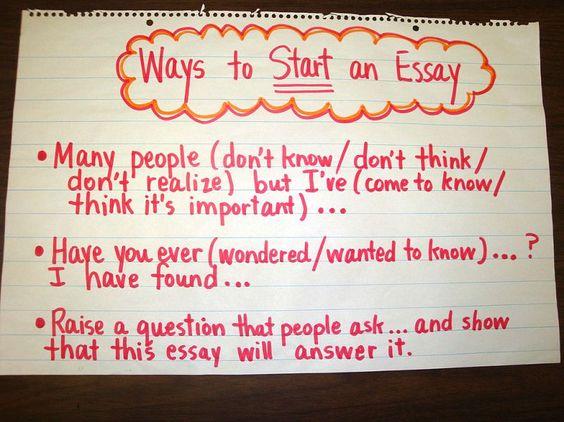 Good ways to start a college essay