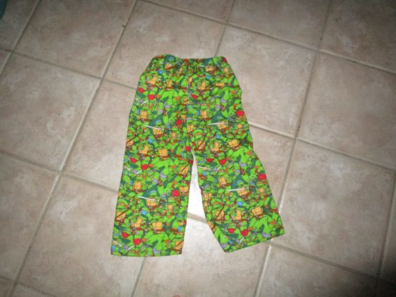Ninja Turtles Flannel Pants Child Sz 3T by CreationsbySpike on Etsy