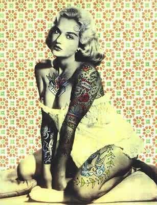 Tattooed pin up lady