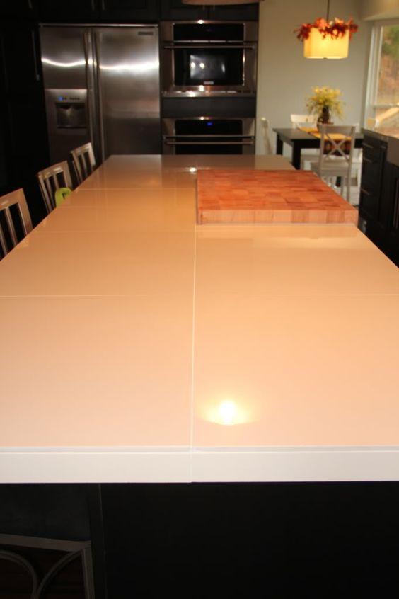 "Rectified Porcelain 24 X 24"" Tiles As A Countertop"