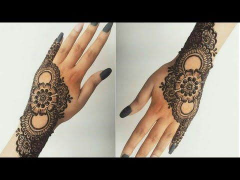 front mehndi design easy and beautiful back side