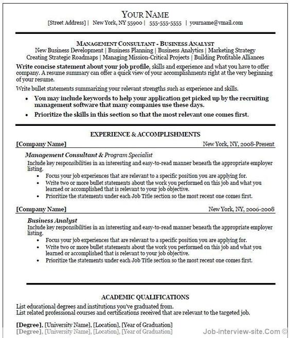 Free Resume Templates Printable -    getresumetemplateinfo - resume templates open office free
