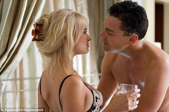 Steamy scenes: Margot played the role of Naomi Lapaglia, the second wife of disgraced stockbroker Jordan Belfort in the Hollywood drama, which…