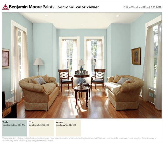 Bm Woodlawn Blue For Office Color Inspiration