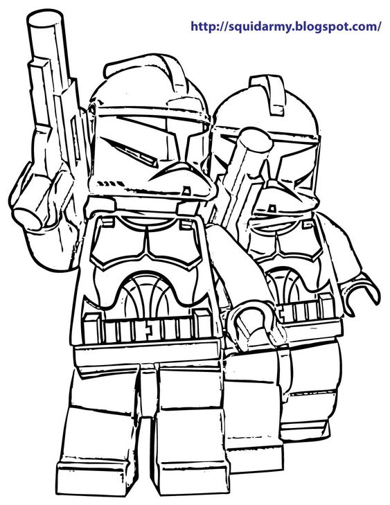 Lego Star Wars coloring pages - Stroom Tropers | Free ...