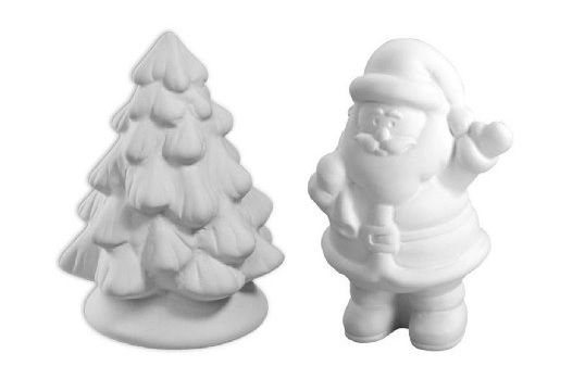 Little Santa and His Holiday Tree Set - Paint Your Own Ceramic Keepsake