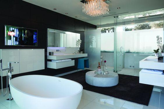 Avir 30 Flushmount By Manuel Vivian for AXO Light: Bathroom Design, Luxury Bathroom, Modern Bathroom, Dream House, De Bain, White Bathroom, Dream Bathroom, Master Bathroom