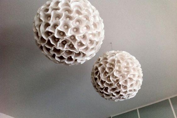 DIY : chandelier en papier lumineux pour décorer la chambre de bébé - Neufmois.fr