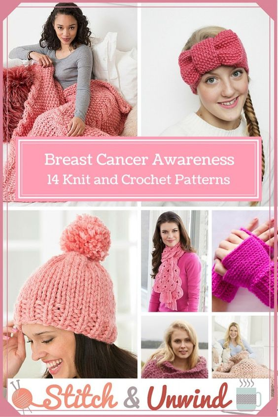 Breast Cancer Knitting Patterns : Breast cancer, Cancer awareness month and Breast cancer awareness on Pinterest