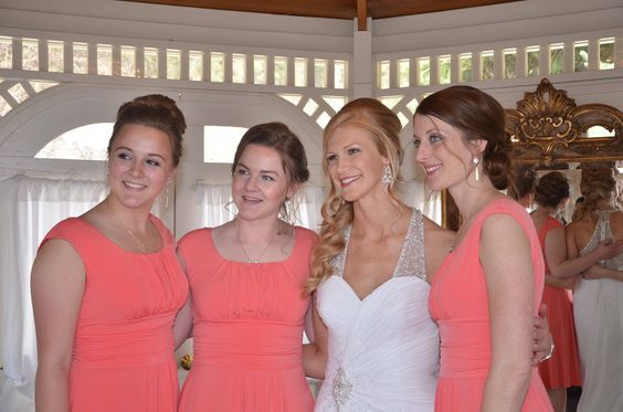 Abby with bridesmaids