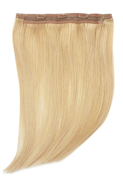 22 Inch Quad Wefted Remy Clip In Human Hair Extensions Light
