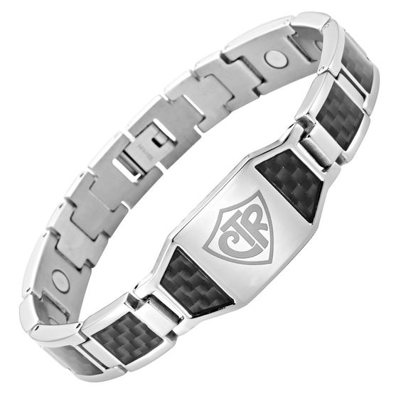 Willis Judd Men's CTR 'Choose The Right' Titanium Magnetic Bracelet with Black Carbon Fiber Adjustable. 8.5 Inch Long Free Size Adjusting Tool Allows You Resize At Home Link To Instructional Video Included. Free Black Velvet Bracelet Box Included Making It The Perfect Gift Ready To Give. Extra Strong High Powered Magnets (3000 Gauss). Hand Crafted From Super Strong, Yet Super Light Weight Pure Titanium. Features Genuine Black Carbon Fiber.