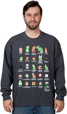 Cast of Super Mario Bros Sweatshirt