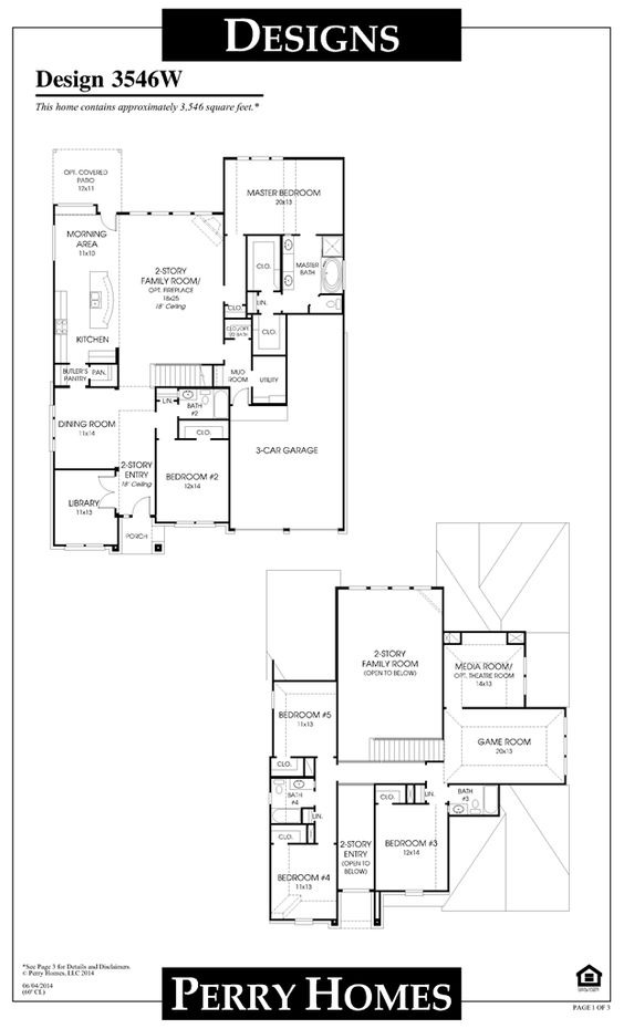Perry Homes Floor Plan For 3546w Floor Plans Pinterest
