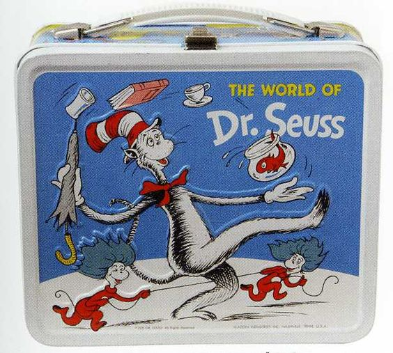 Vintage Lunchbox, School Tin Lunchbox