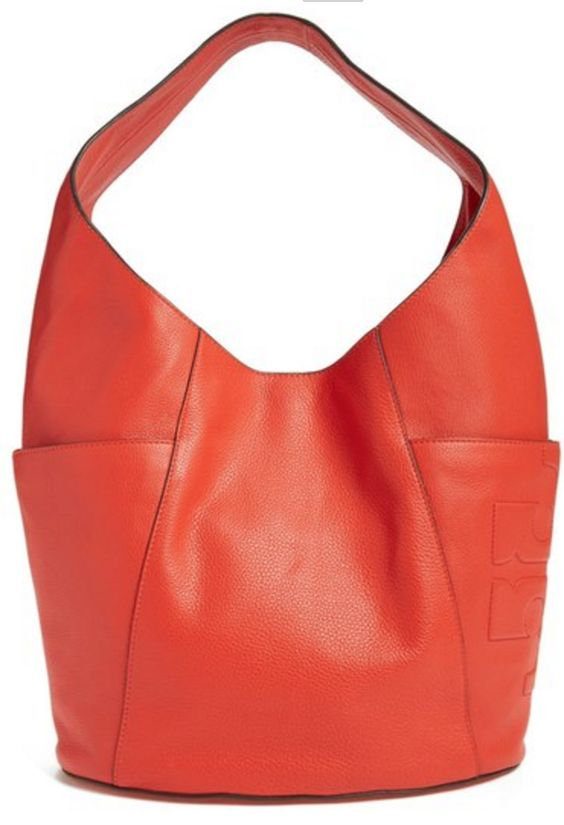 Tory Burch Coral, Leather Hobo