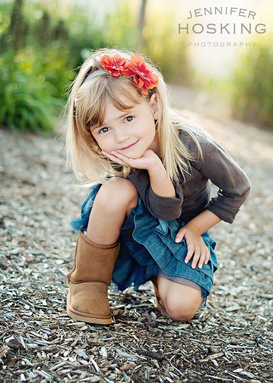 An adorable shot of an adorable girl!