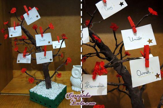 #DIY de uma #árvore com #PiscaPisca pra você enfeitar do jeito que quiser, presentear alguém especial e soltar a imaginação! Voa conferir o #video do #tutorial com o #passoapasso ensinando como fazer em www.corujinhalulu... --- #FaçaVocêMesmo #FaçaVocêMesma #FacaVoceMesmo #FacaVoceMesma #ÁrvoreCerejeira #Cerejeira #Presente #Decoração #ÁrvoreDosDesejos #ÁrvoreDeSonhos #PortaTreco #Postit #Avisos