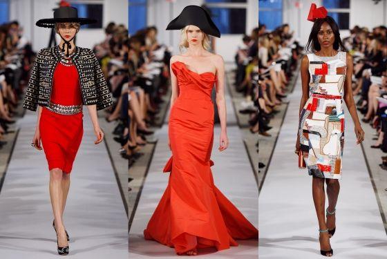 Oscar de la Renta. Paper hat couture.