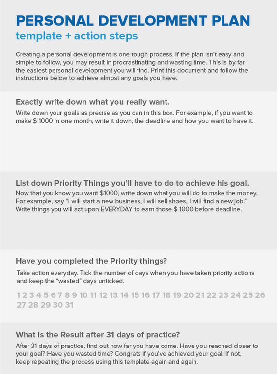 Personal Development Plan Personality Dev \ Com Pinterest - sample personal action plans